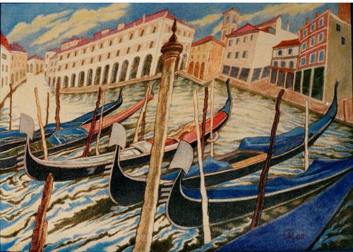 «Венеция. Гoндолы» ::: Маргарита Керимова-Соколова