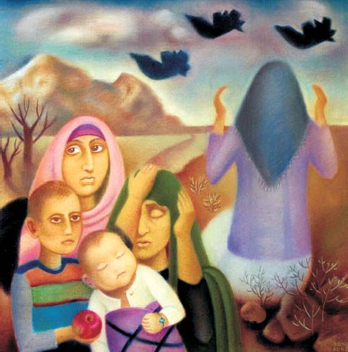 """""""Карабах – боль моя"""" центральная часть триптиха «Беженцы» ::: Сара Манафова"""