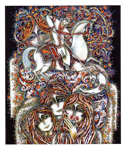 """""""Всадник на белом коне""""  из серии  """"Азербайджанские сказки""""  ::: Ариф Гусейнов"""
