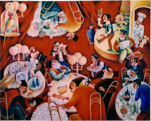 """""""В Бакинском ресторане"""" ::: Орхан Гусейнов"""