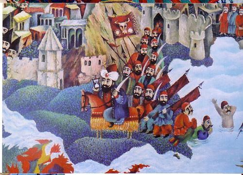 """""""Карта Азербайджана"""" фрагмент """"Баку"""" ::: Орхан Гусейнов"""