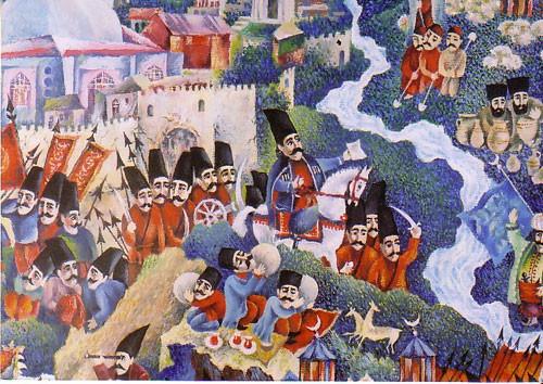 """""""Карта Азербайджана"""" фрагмент """"Карабах"""" ::: Орхан Гусейнов"""