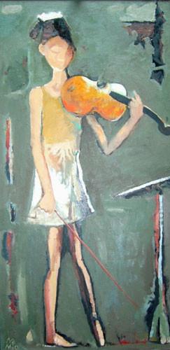 """""""Девушка со скрипкой"""" ::: Намик Мамедов"""