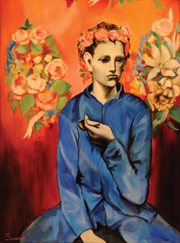 """Копия картины П. Пикассо """"Мальчик с Трубкой"""" ::: Самира Джавадова"""