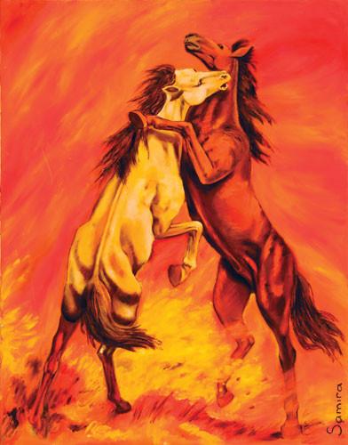 """Танец коней"" ::: Самира Джавадова"