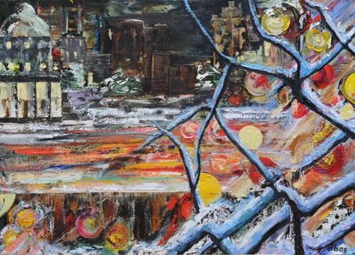 """""""Зимние ночи"""" (триптих) ::: Аббас Ахмедов"""