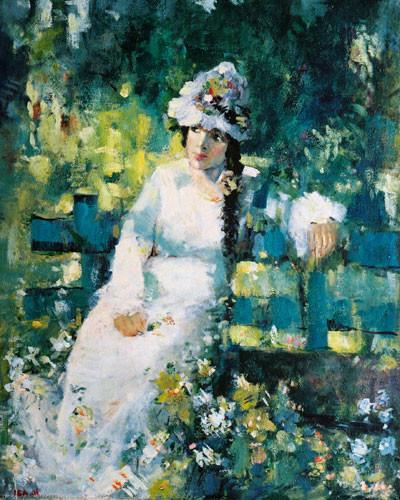 """""""Женщина в парке"""" ::: Иса Мамедов"""
