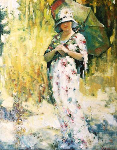 """""""Женщина с зонтом"""" ::: Иса Мамедов"""
