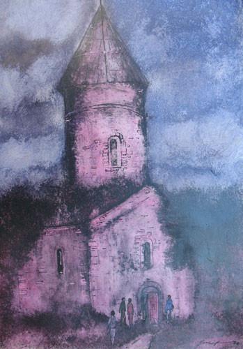 """""""Шеки. Албанская церковь в деревне Киш"""" ::: Юсиф Мирза"""