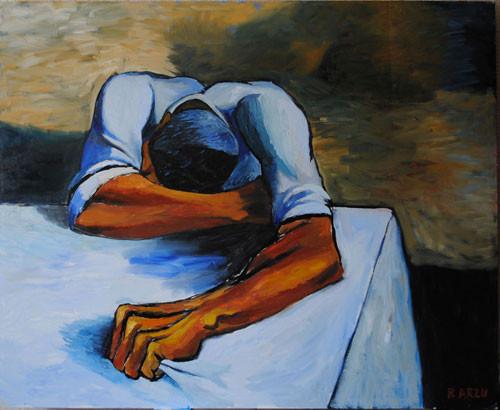 """""""Плачущий мужчина"""" ::: Арзу Рзаев"""