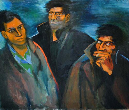 """""""Трое в ветреный день"""" ::: Арзу Рзаев"""