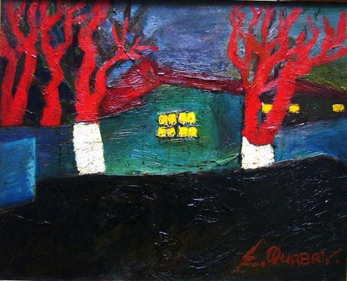 """""""Пейзаж с красными деревьями"""" ::: Эльдар Курбан"""