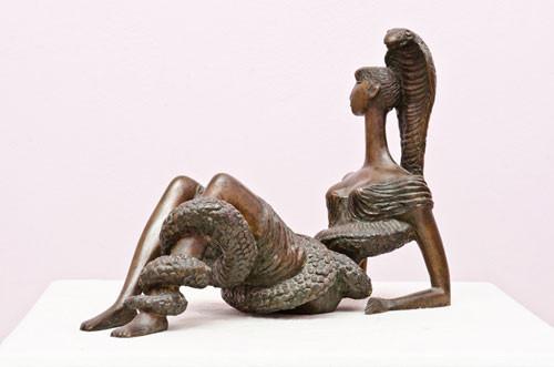 """""""Девушка со змеей"""" ::: Закир Ахмедов"""