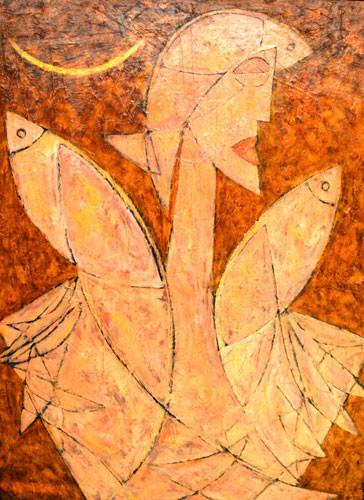 Девушка и три рыбы – 2010 ::: Фархад Ялгузаг