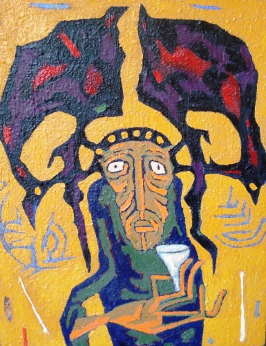 Шаман с оленьими рогами  – 2004 ::: Фархад Ялгузаг