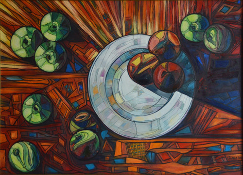 """""""Still life with white plate"""" ::: Gunay Mehdizade"""