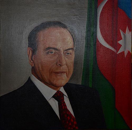 Heydar Aliyev's portrait ::: Gunay Mehdizade
