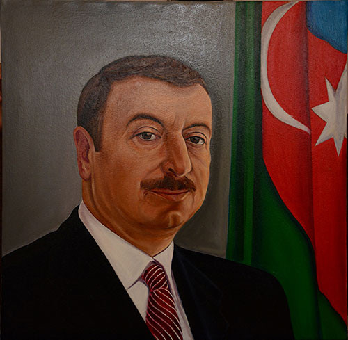 Портрет Ильхама Алиева ::: Гюнай Мехдизаде