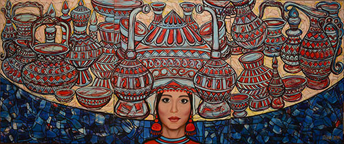 Self-portrait with national values ::: Gunay Mehdizade
