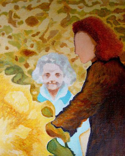 """""""Мать и дочь в поле подсолнухов"""" ::: Наира Рустамова"""