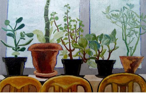 """""""Домашние цветы на подокольнике"""" ::: Наира Рустамова"""