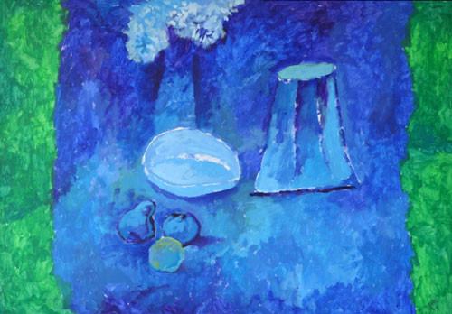 """""""Голубой натюрморт"""" ::: Вугар Мурадов"""