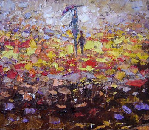"""""""Осенний дождь"""" ::: Вугар Али"""