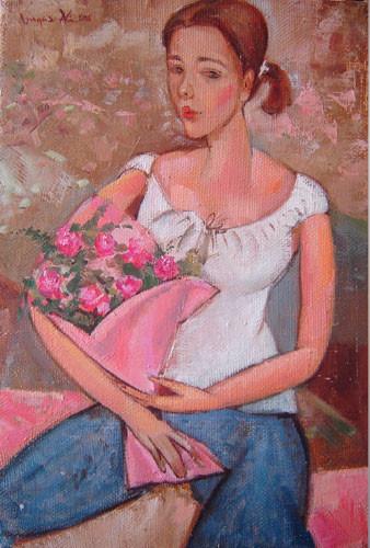 """Девушка с розами"" ::: Вугар Али"