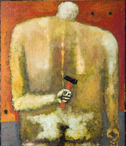 """""""Мужчина с молотком"""" ::: Нияз Наджафов"""