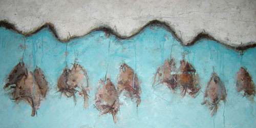 """Головы рыб"" 2007 ::: Эмин Аскеров"
