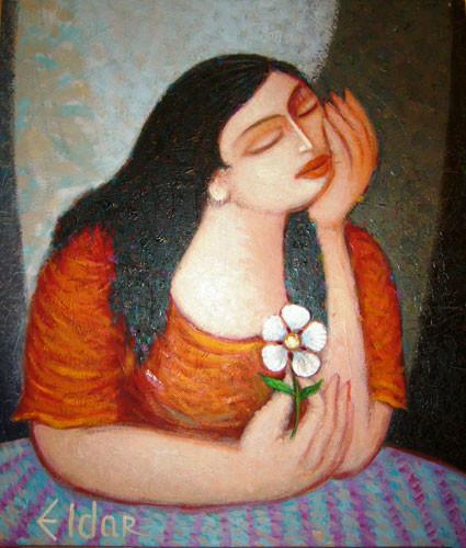 """Девушка с цветком"" 2008 ::: Эльдар Бабазаде"