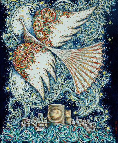 «Птица, летящая над городом» ::: Ариф Гусейнов