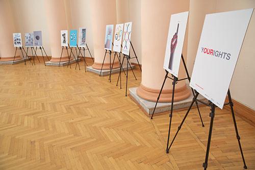 Выставка, посвященная ко «Дню прав человека и 70-летию Всеобщей Декларации Прав Человека»