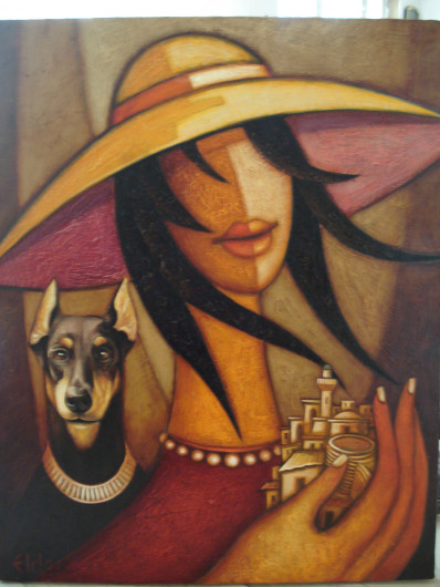 Эльдар Бабазаде «Девушка в шляпе»